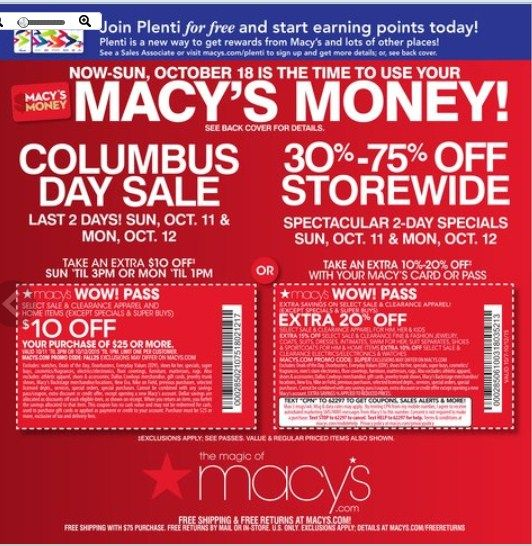 Macy S Flyer October 11 12 2015 Columbus Day Sale Weekly Ads And Circulars October 2015 Us Retailers And Groceries Posting Columbus Day Sale Macys Flyer