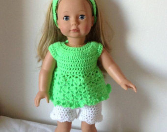 Pdf Crochet Pattern For 18 Inch Doll American Girl Doll Or Gotz