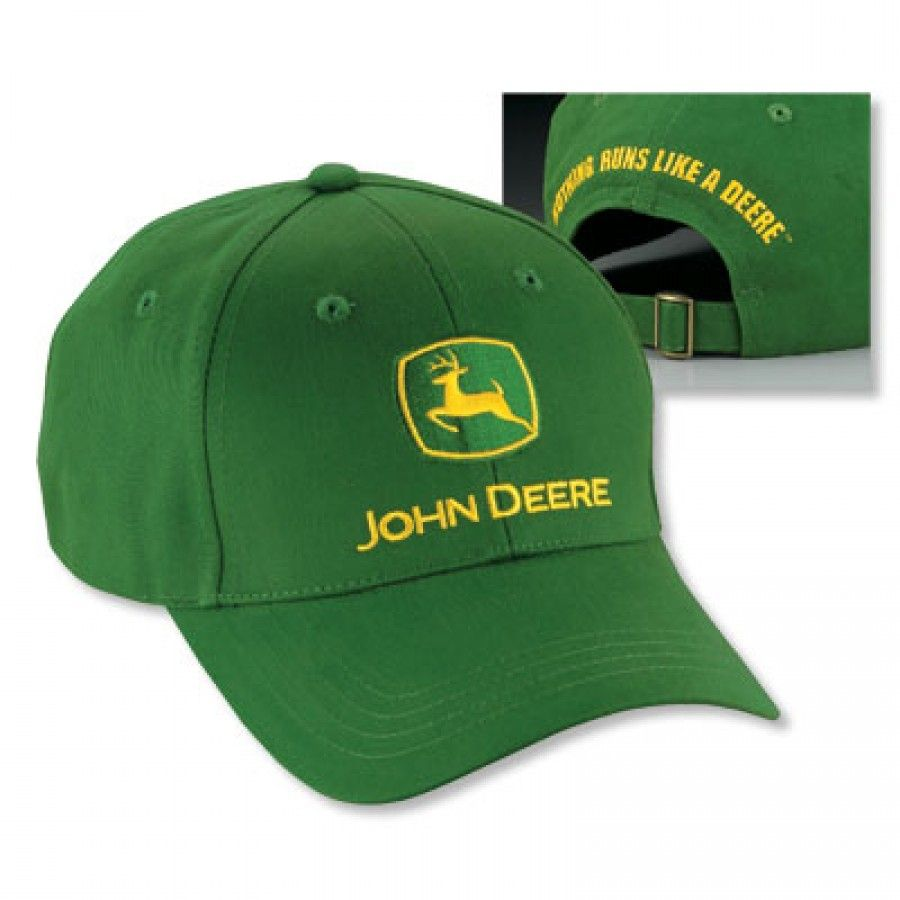 Adult John Deere Unstructured Green Cotton Twill Hat  e13f3c2e388
