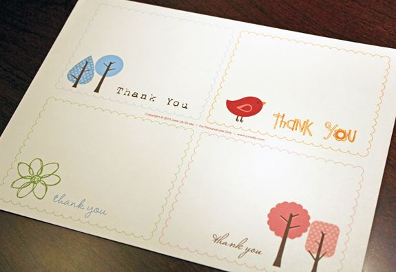 Free Printable Thank You Notes June Lily Studio Custom Blog Design Custom W Printable Thank You Notes Free Printable Cards Printable Cards