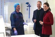 Prince William, Duke of Cambridge and Catherine, Duchess of Cambridge visiting Halen Môn Anglesey Sea Salt. Here the Duke and Duchess are be being shown the salt making process from hand harvesting to packaging. During a visit to North Wales On May 08, 2019 in Various Cities, United Kingdom. #northwales