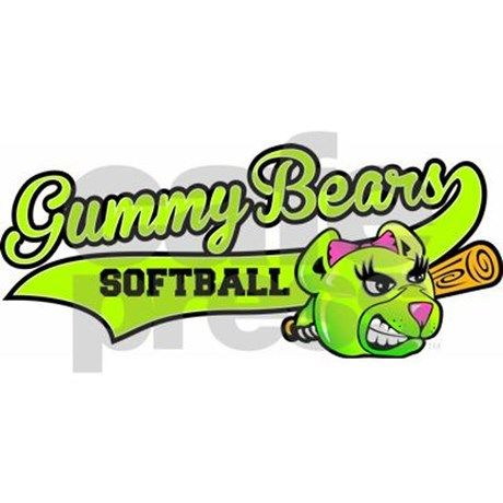 gummy bears softball logo mug softball logos and team mom rh pinterest com au softball logo maker softball logo creator