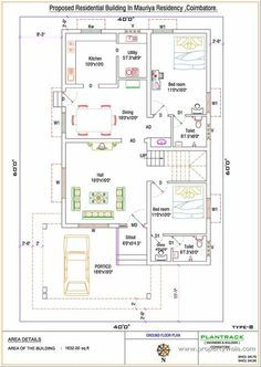 Duplex house plan for North facing Plot 22 feet by 30 feet 2 30x40 ...