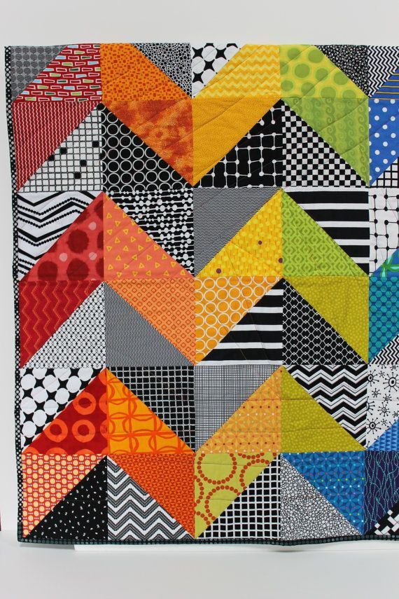 Baby Quilt Patterns Contemporary : Modern Baby Quilt