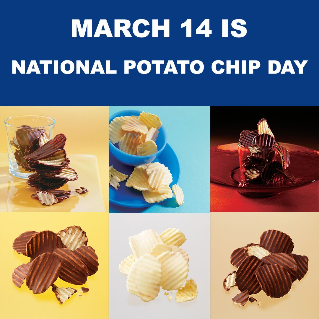 March 14 Is National Potato Chip Day In 2020 Sweet And Salty National Potato Chip Day Potato Chips