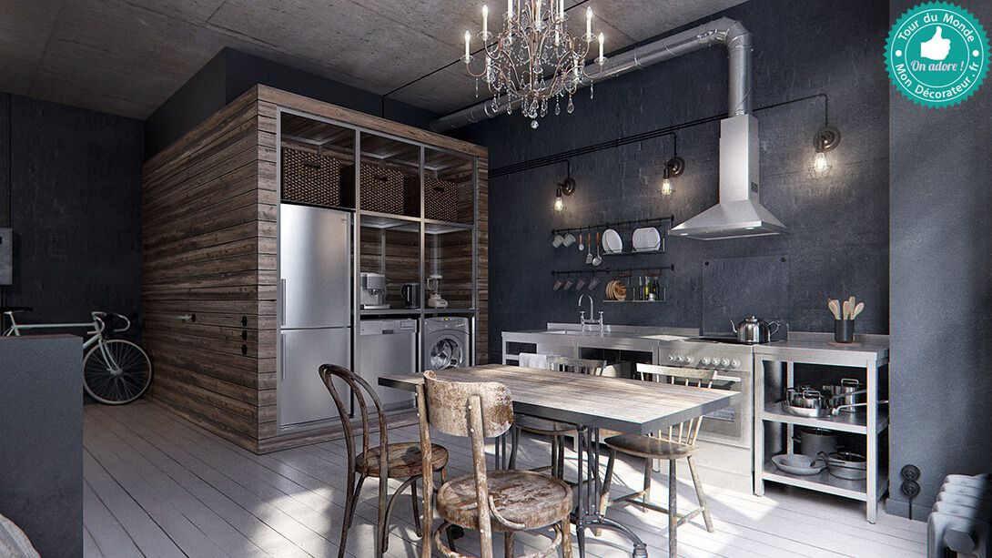 Mon décorateur dintérieur un petit appartement une pièce à la décoration industrielle et