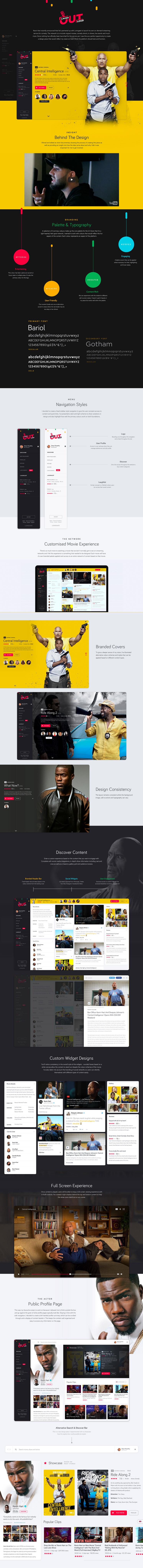 Kevin Harts Laugh Out Loud Network Uiux Concept Interactive Design Laugh Out Loud Website Design