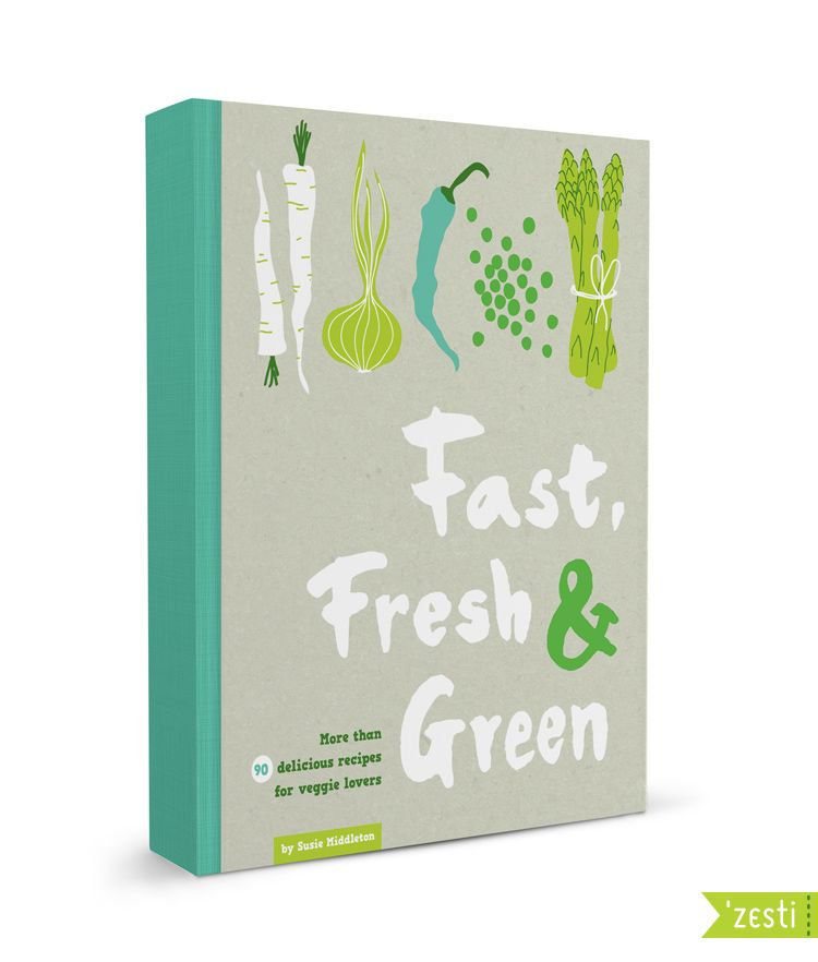 Cookbook With Green Cover : Fast fresh green cooking book cover by zesti