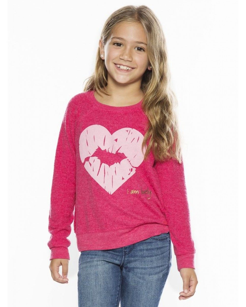 Peace Love World Clothing I Am Lovely Power Pink Comfy Kids Top Tops Kids Collection