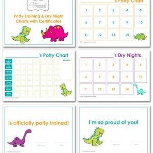 potty training charts dinosaur