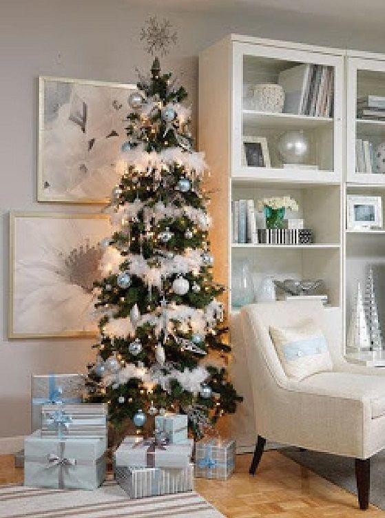Pre Decorated Slim Christmas Tree Billingsblessingbags Org
