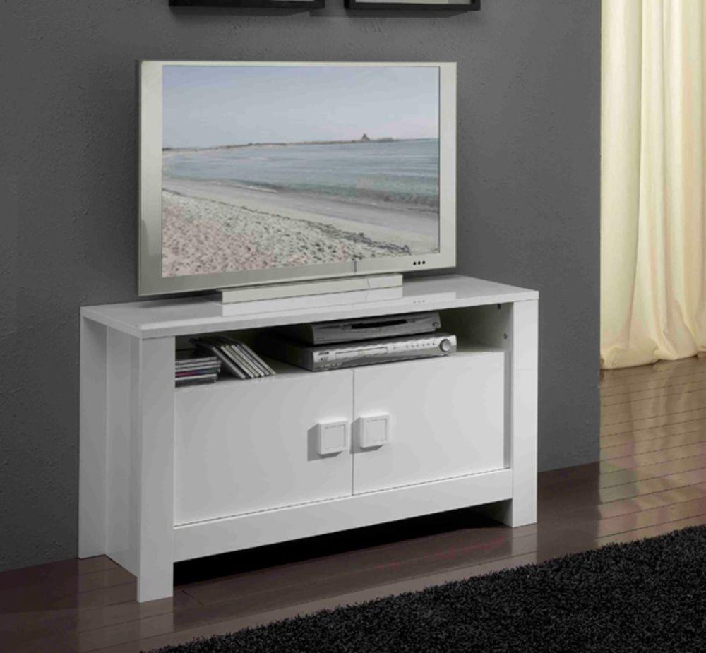 Beau Meuble Tv Haut Blanc D Coration Fran Aise Pinterest  # Meuble Tv Chaine Hifi