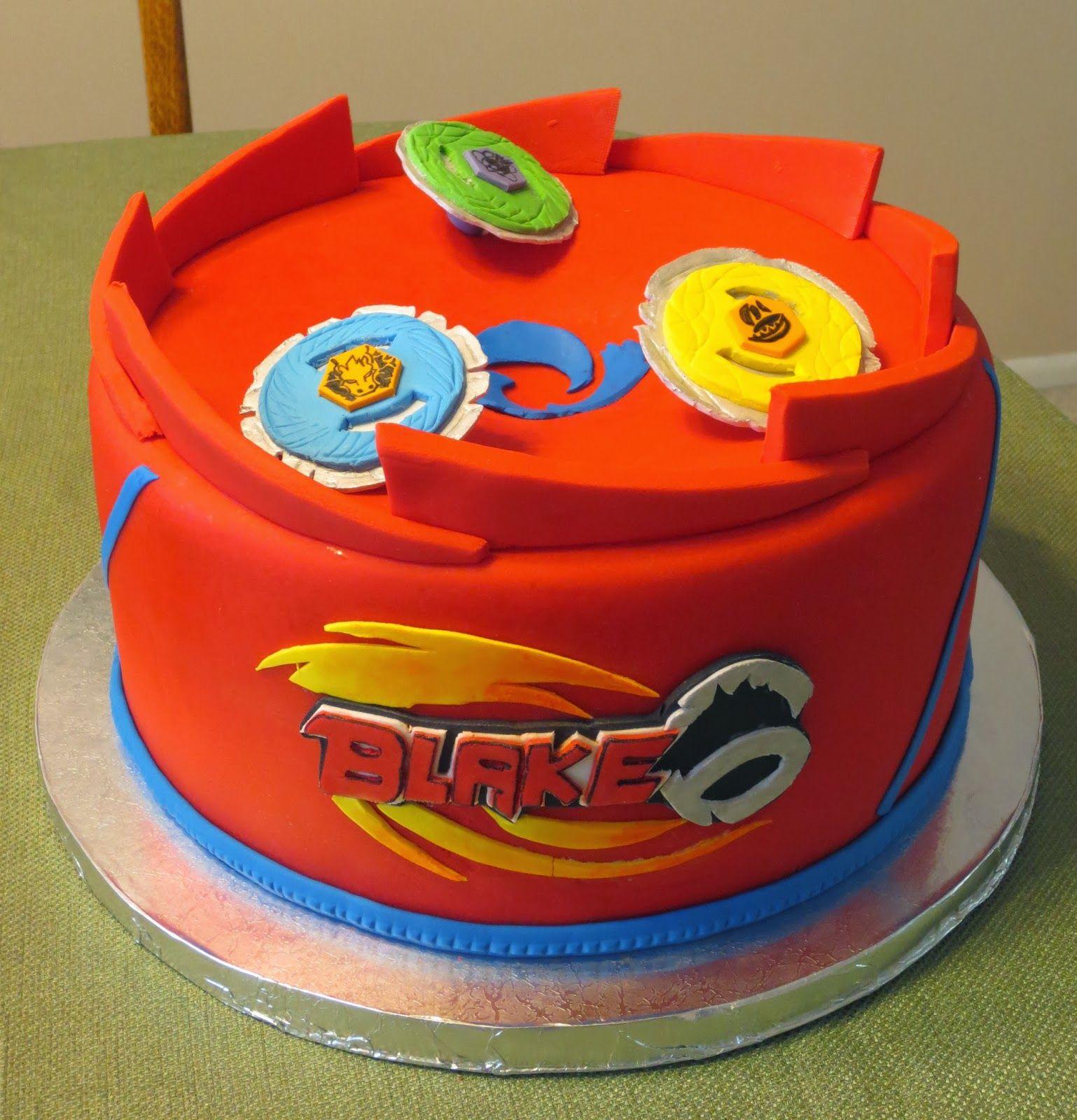 J S Cakes Beyblades Birthday Cake