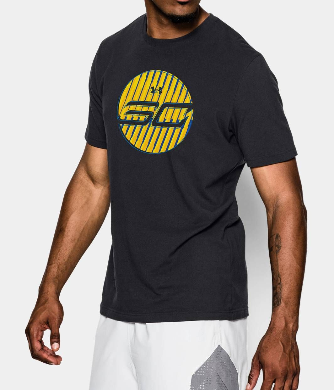 5c4b2bb949224 New Under Armour Mens UA Big Logo Chinese Basketball Loose Graphic Shirt  Size L