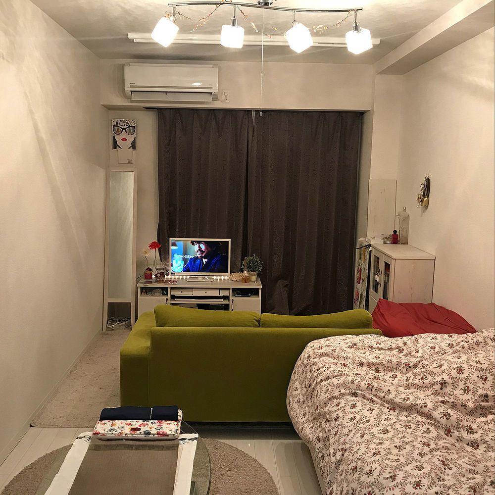 6畳1kのレイアウトのコツ 部屋の形別のインテリア実例55選 Yotsuba よつば 狭い部屋 インテリア 部屋 レイアウト ワンルーム 一人暮らし部屋レイアウト