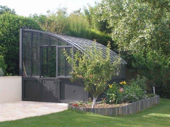Serre A L Ancienne Versailles Lams Avec Dos Vitre Sur Base Aluminium Existe Aussi Sur Muret Serre Jardin Jardins Serre
