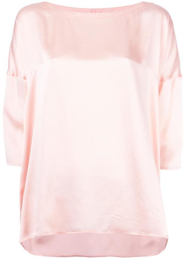 04cfa6ed Faith Connexion Pink Satin Top $393.88 At Farfetch Light pink silk satin top  from Faith Connexion