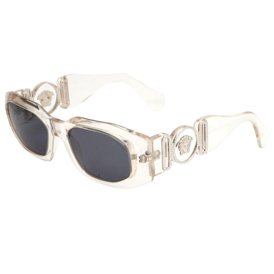 Gianni Versace Clear Sunglasses Mod 414/B Col 924 in 2018   1990s ...