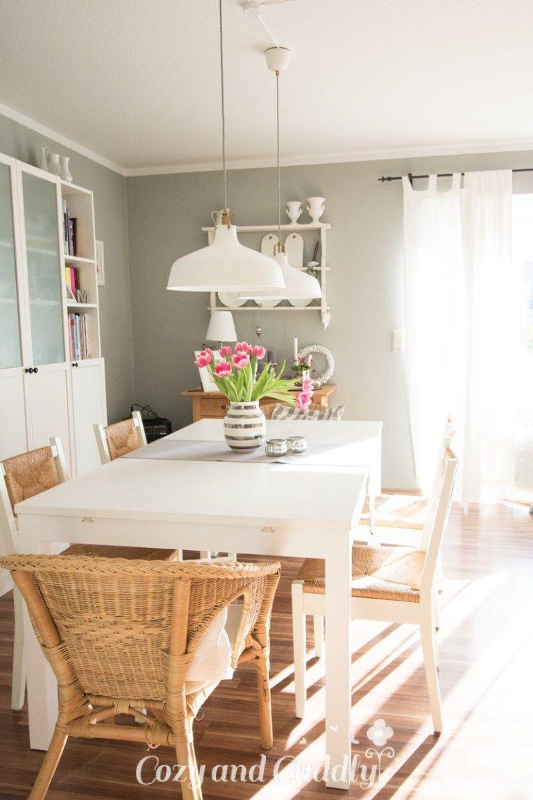 Unser neuer Esstisch - Bjursta von Ikea - Platz für 10 Personen ...