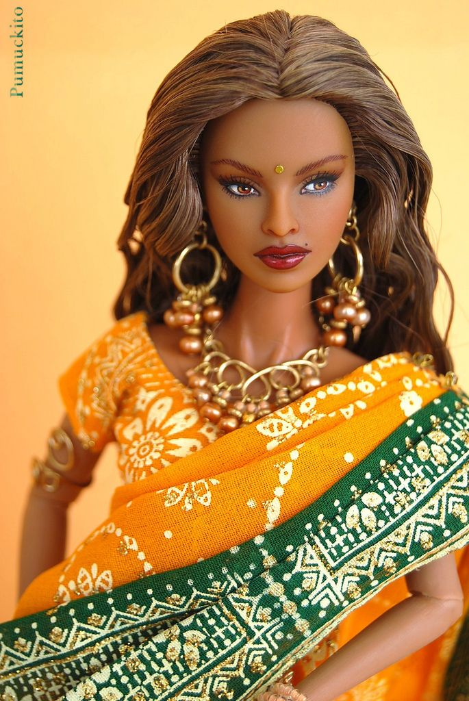 Isha riveting premier with sari dolls barbie doll and black barbie barbie from india fr riveting premier isha repaintrestyleredress by pumuckito sciox Images