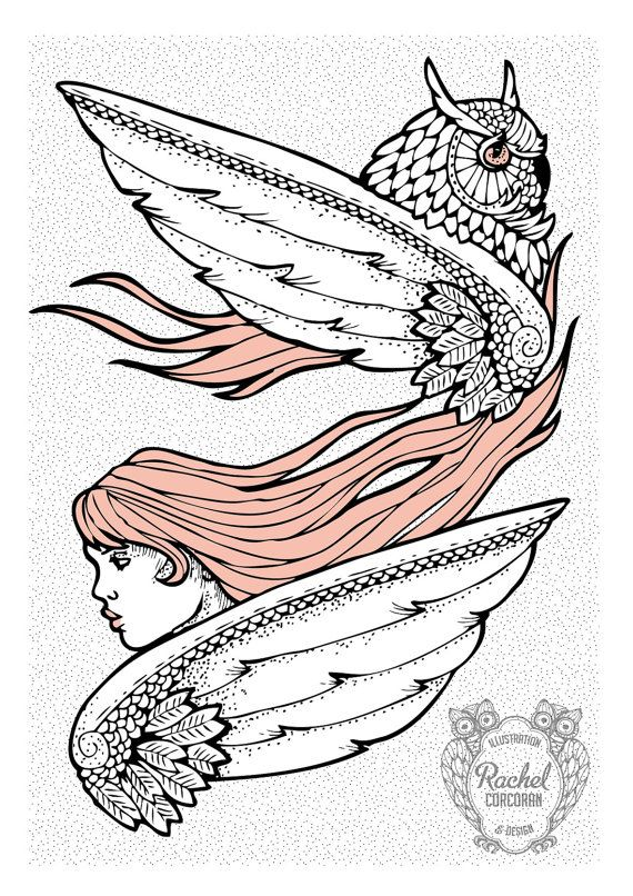 'Owl and Angel' by Rachel Corcoran