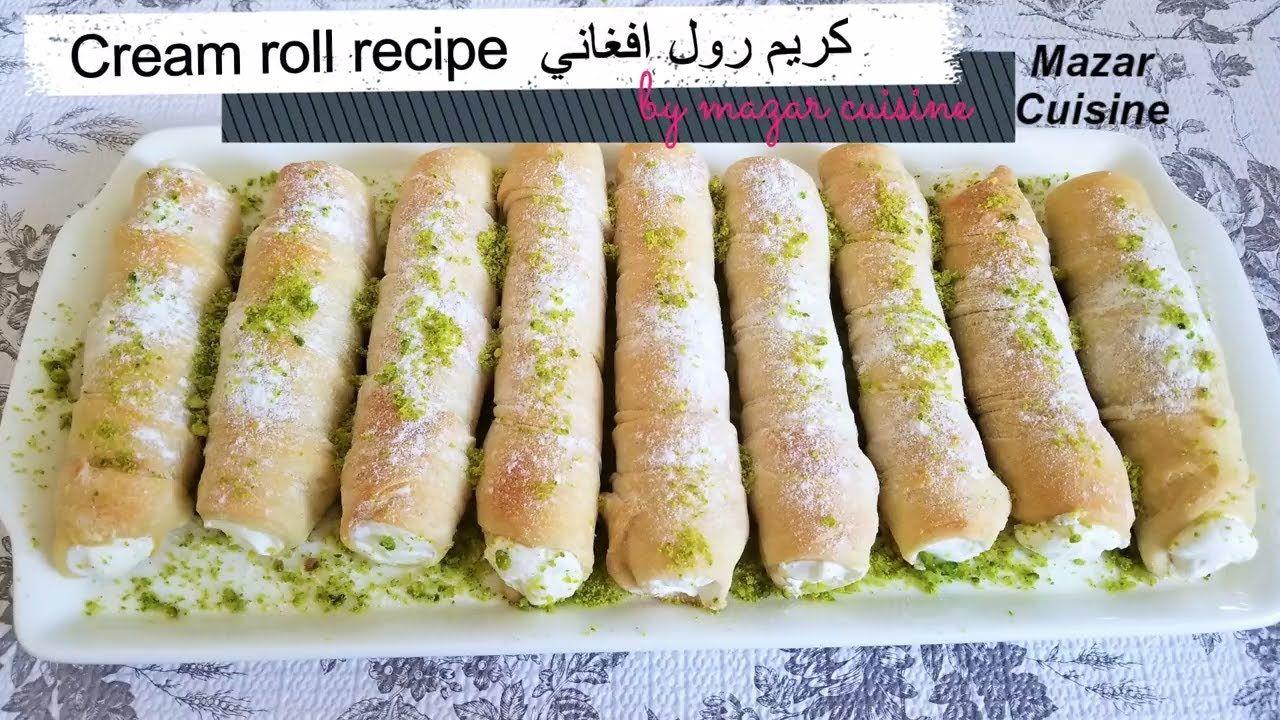 Afghani Cream Roll Recipe Cream Horns Recipe Cream Cones Afghan
