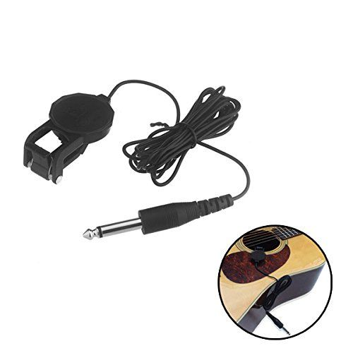 Pyliostmacoustic Classical Guitarviolin Black Clipon Pickup With 14 Jack 25m Cable Cherub Wcp60g High Acoustic Guitar Pickups Guitar Accessories Guitar Pickups