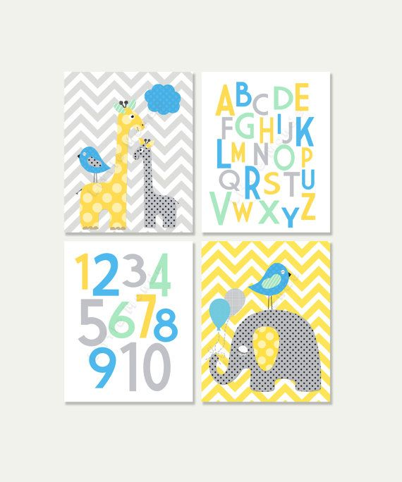 Baby Boy Nursery Prints Nursery Art Giraffe Nursery by LittleMonde ...