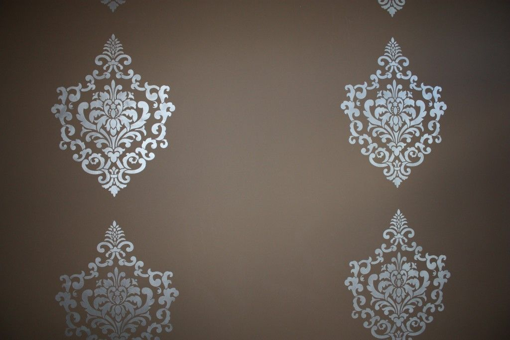 gel beads for wall stenciling | damaskwebsite3 1024x682 Damask Stenciled Accent Wall
