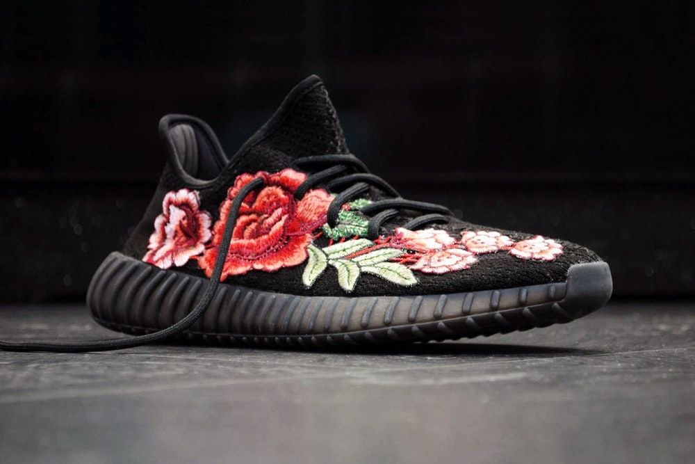 dd8d19b126cf adidas Yeezy Boost 350 V2 FRE Customs Floral Flowerbomb - Limited Edition