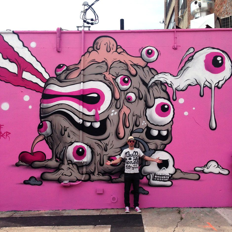 Buff Monster Paints A New Mural At The Bushwick Collective Block