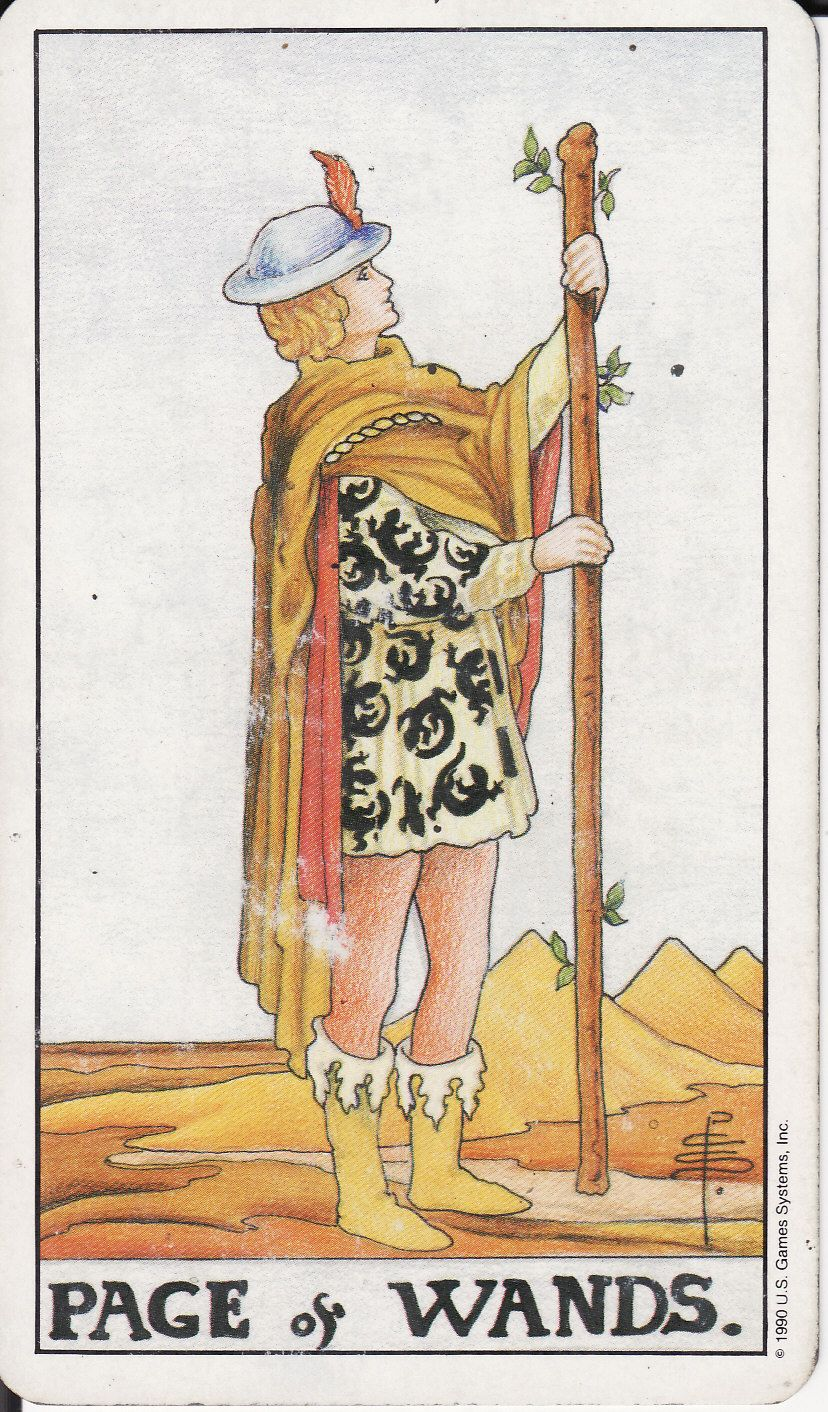 Page of Wands in Love and Relationships