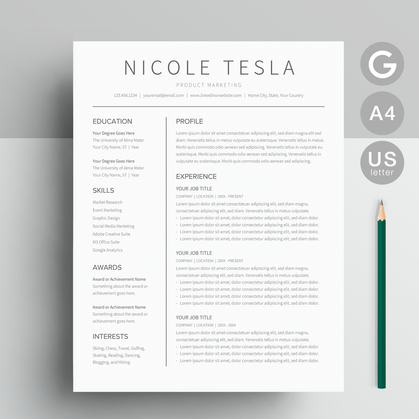 9 Resume Template In Google Docs In 2020 Resume Template Cv Template Cover Letter Template
