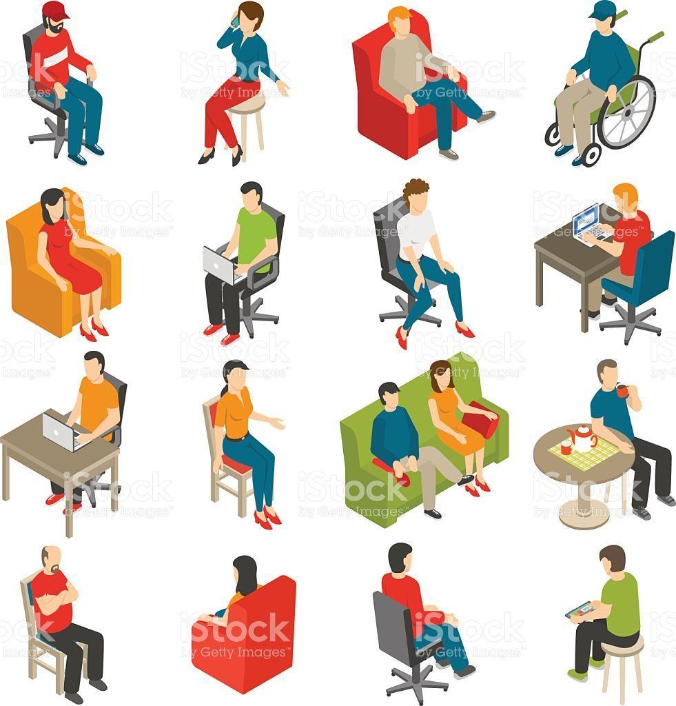 illustrator isometric object design chair ile ilgili görsel sonucu
