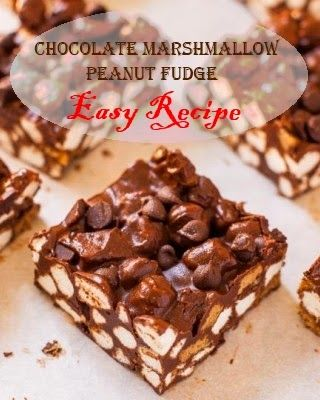 Chocolate Marshmallow Peanut Fudge - an easy recipe for the candy-making novice