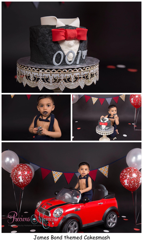 James Bond themed Cakesmash #newbornphotographer #newbornphotographers #brampton #bramptonnewbornphotographer #bramptonnewbornphotography #newborn #baby #babyphotographer #baby boy #babygirl #torontophotographer #mississauga #preciousmomentsphotographybynatashasamaroo #pmpbyns #photography #photographer #cakesmash #babysfirstbirthday #jazcakes #cakesmashphotographer #bramptoncakesmash