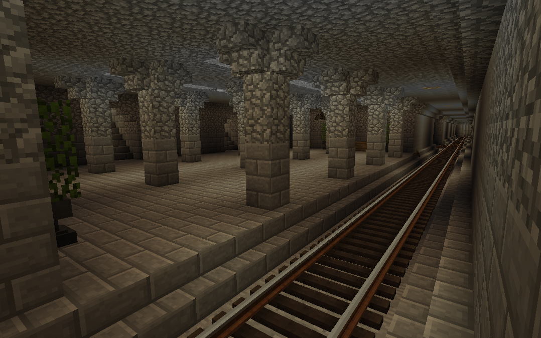 Minecraft underground rails minecraft pinterest for Classic underground house tracks