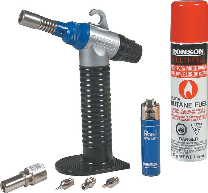 Ronson Tech Torch Auto Start Butane Torch Kit Princess