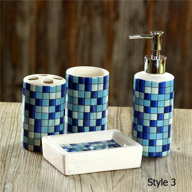 Bathroom Accessories Packaging 4 pcs/set bathroom accessories set sanitary combination wash tool