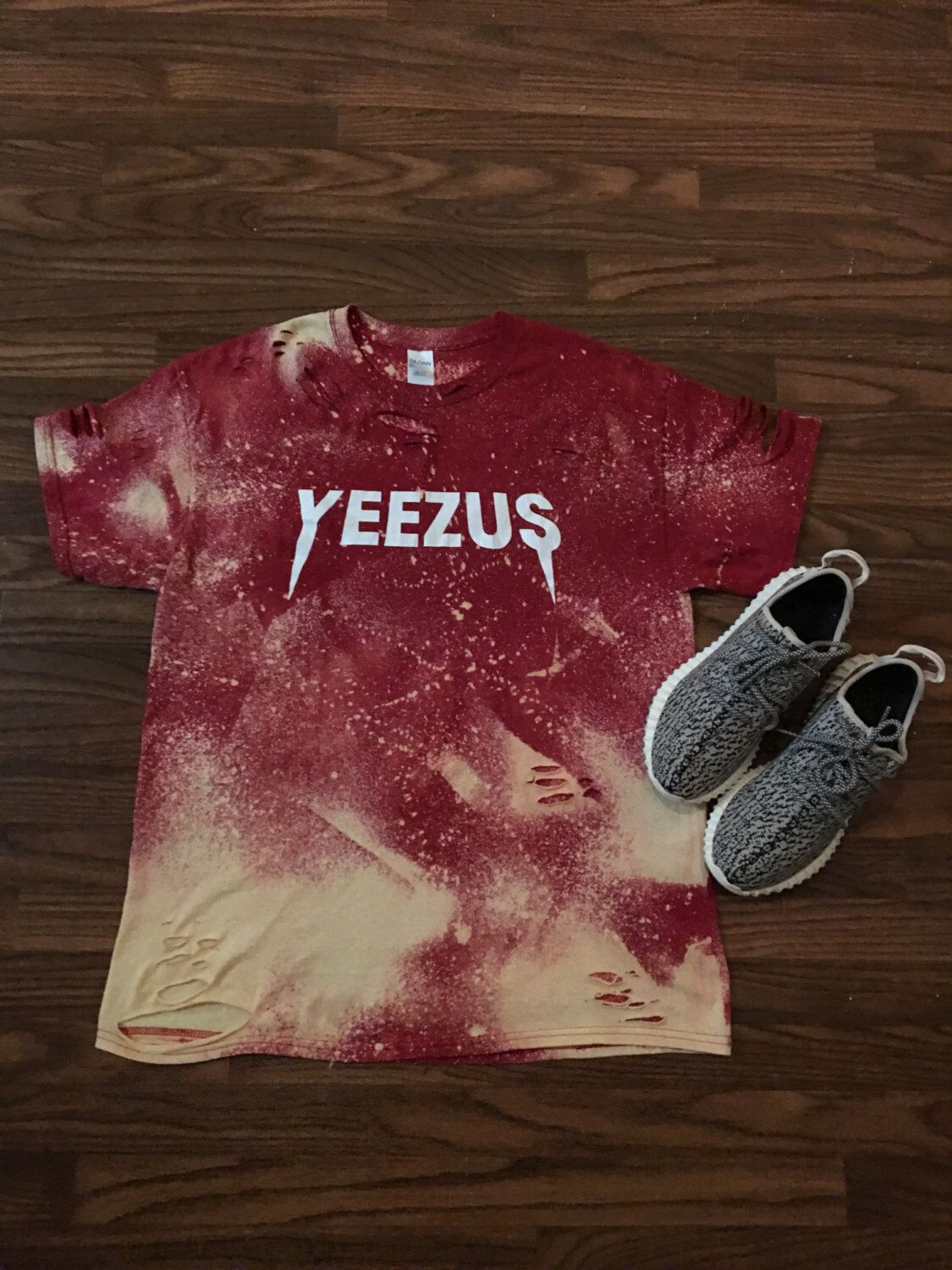 0bed77cbefc Kanye West Yeezus Tour Concert Merch Custom Bleached T Shirt Yeezy I Feel  like Pablo The