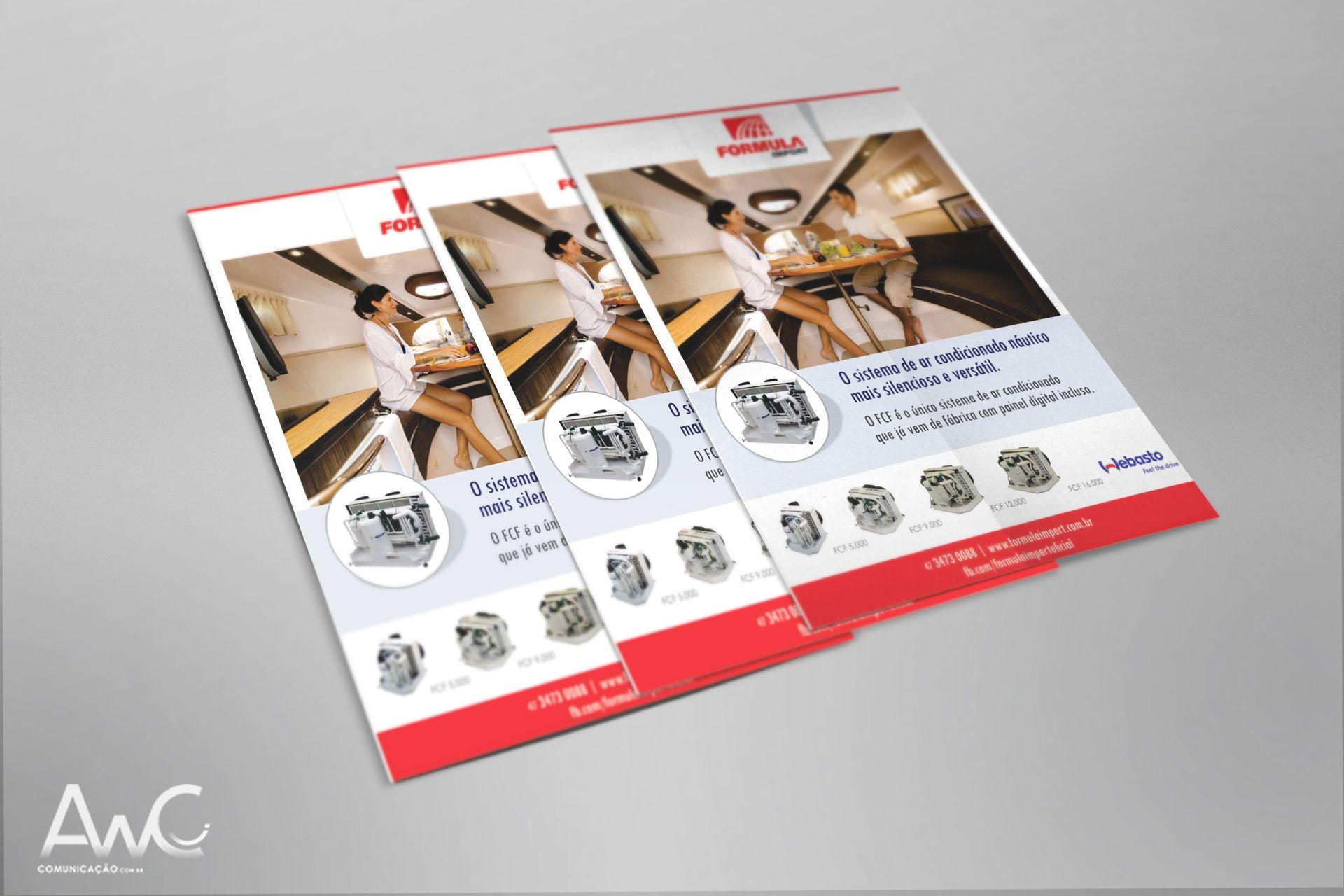 Desenvolvimento de Impressos Promocionais Folder para o cliente: Fórmula Import