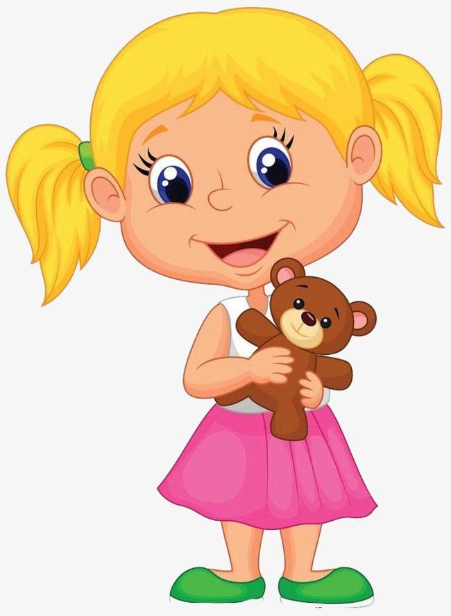 The Girl With A Teddy Bear Desenho Familia Rotina Na Educacao Infantil Meninas