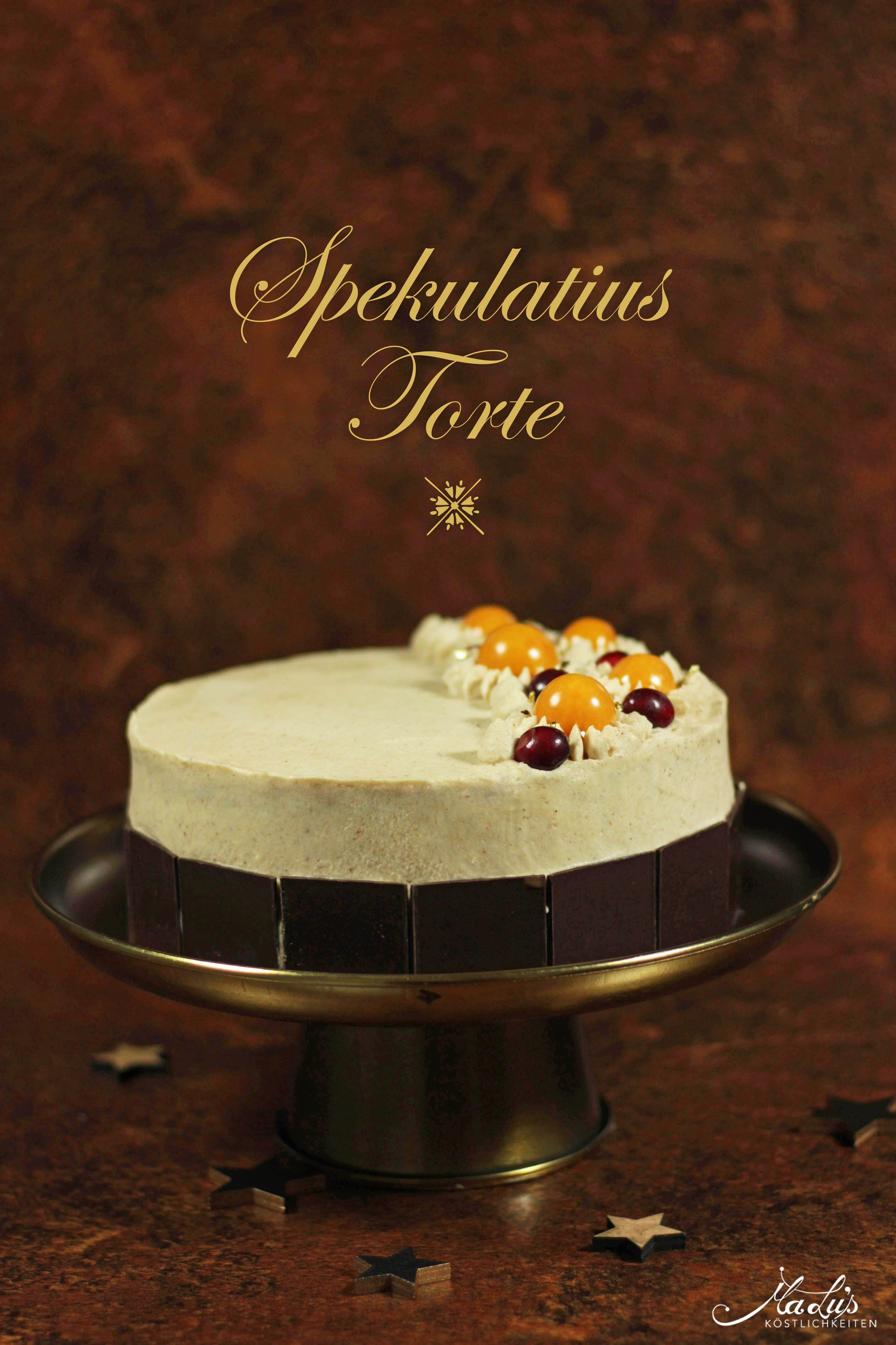 Spekulatius Torte Backen Fur Weihnachten Kuchen Und Torten Rezepte Dessert Ideen