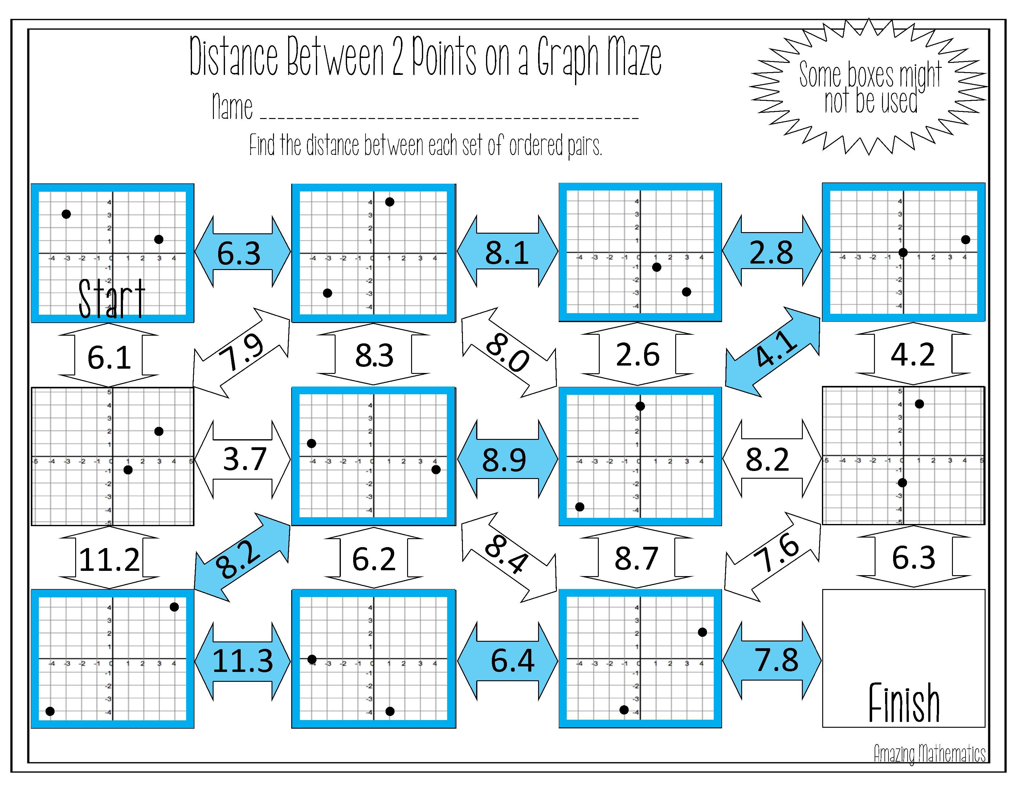 Distance Maze Worksheet (With images) Maze worksheet