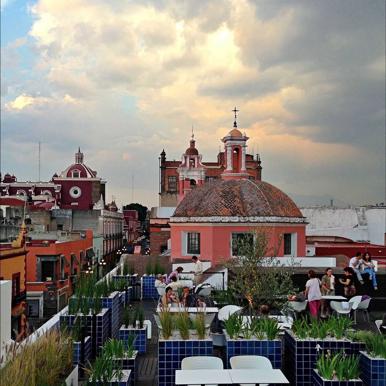 Terraza Museo Amparo Puebla Mexico Arquitectura