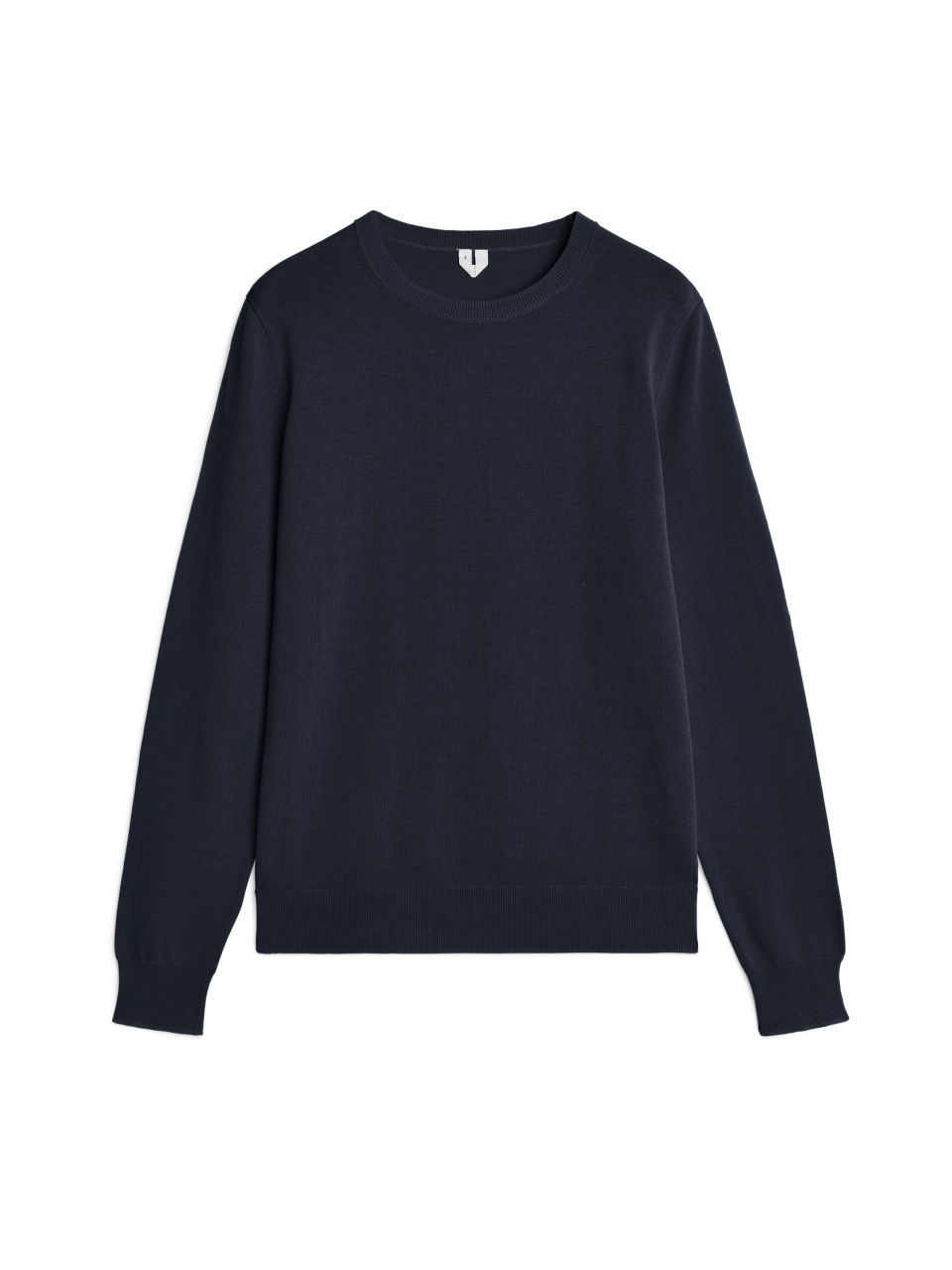 199fa527a0eb Pima Cotton Crew-Neck Jumper - Dark Blue - Knitwear - ARKET GB in ...