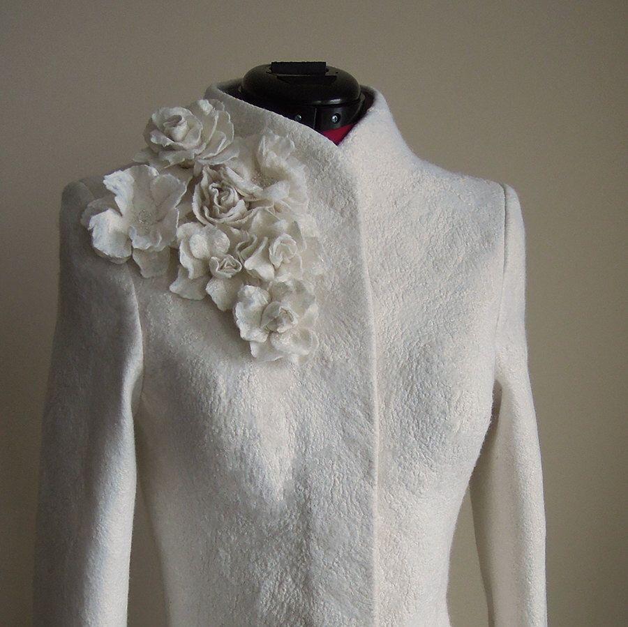 Cashmere Bridal Jacket Warm Bridal Coat White Jacket