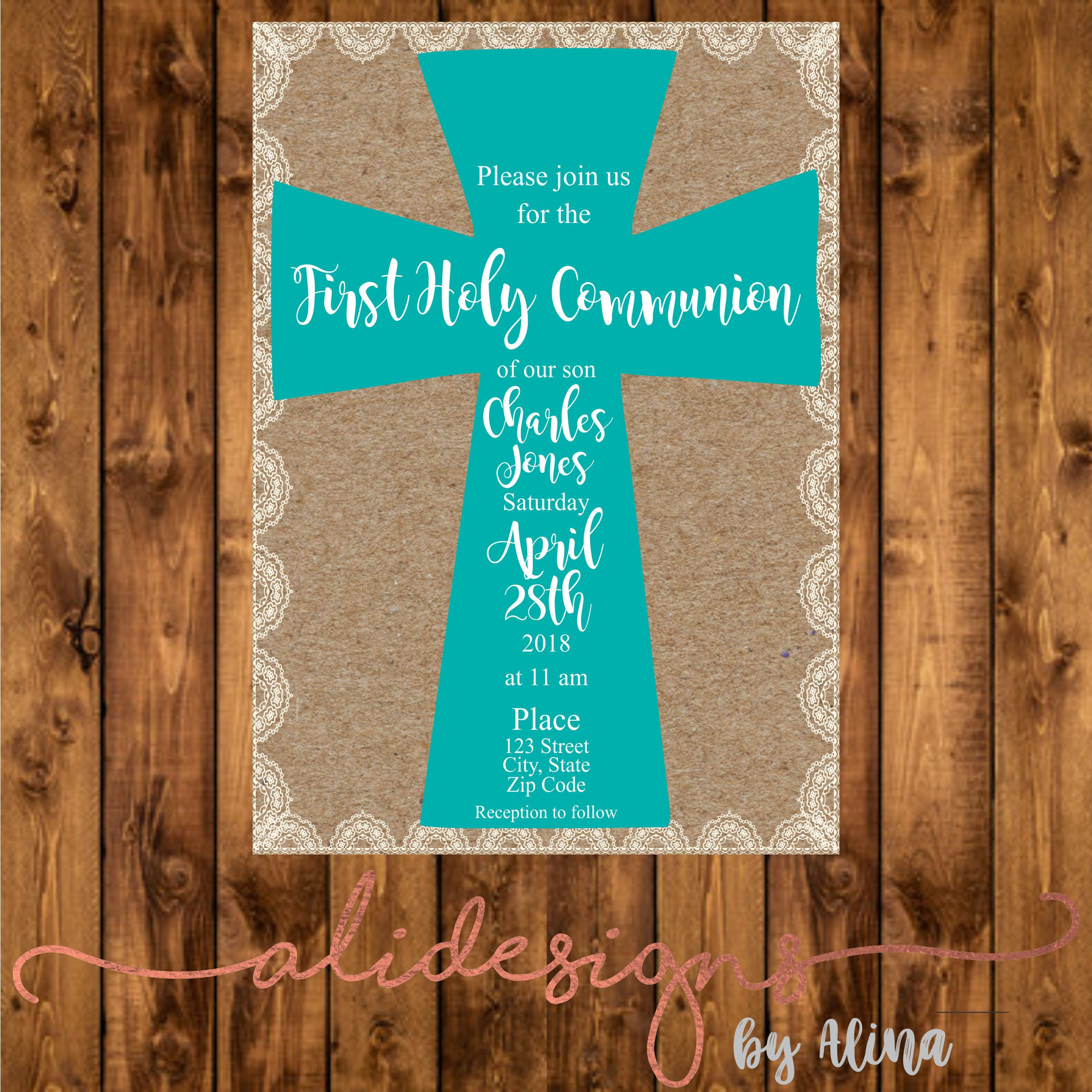 First Holy Communion Printable Invitation