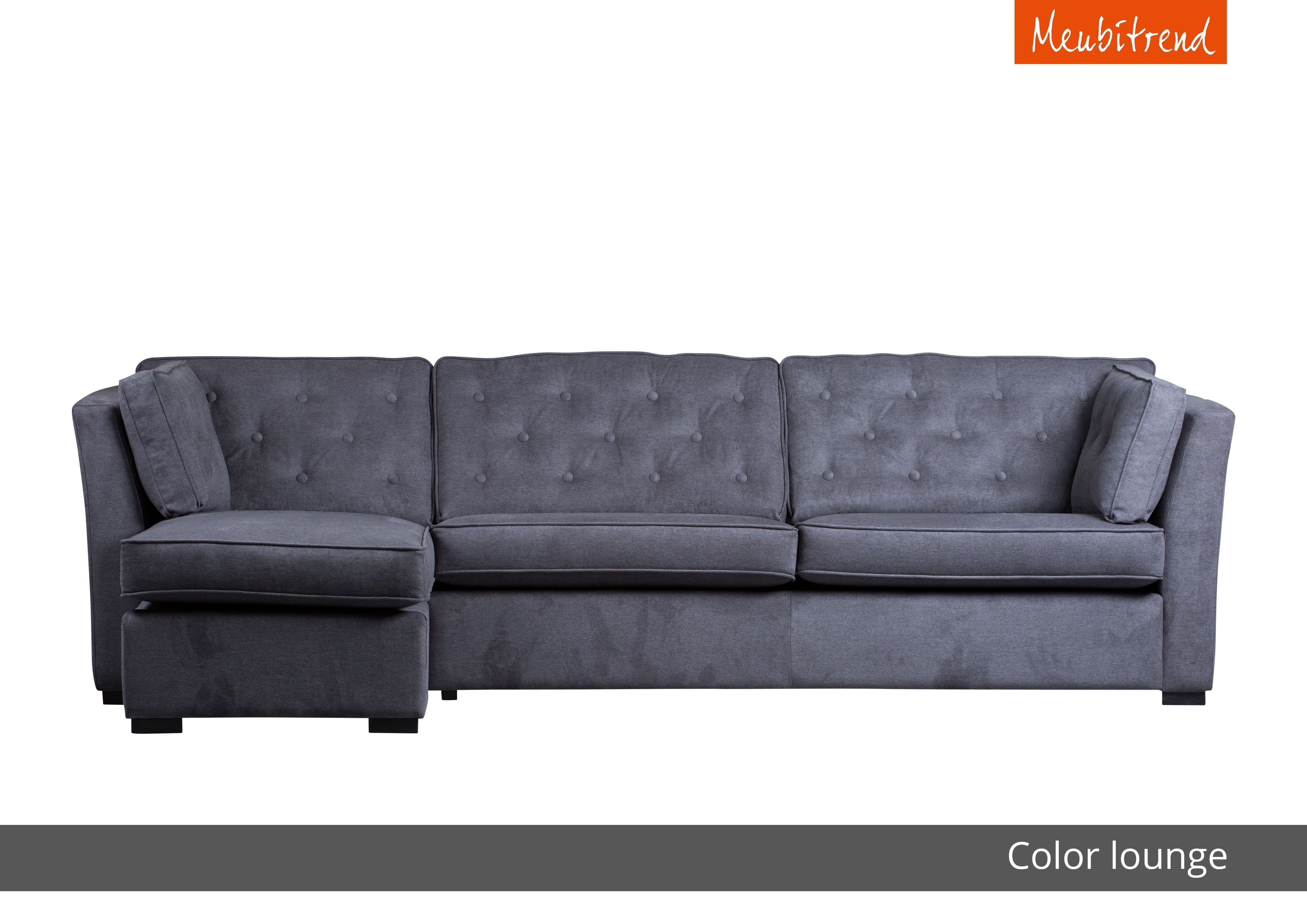 Lounge Hoekbank Antraciet.Meubitrend Bank Antraciet Color Lounge Knopen