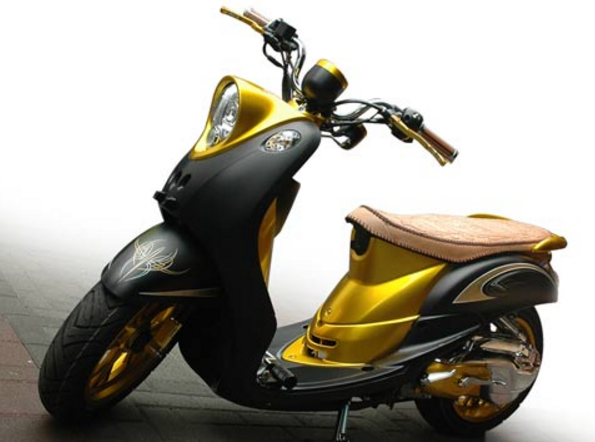 Modifikasi Yamaha Fino Simple